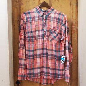Kuhl NWT Spektra Plaid Button Down Shirt